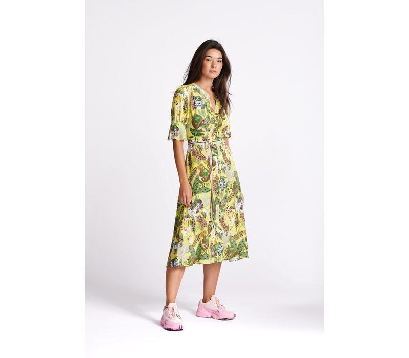 POM Amsterdam Dress Jungle Beats Lemon