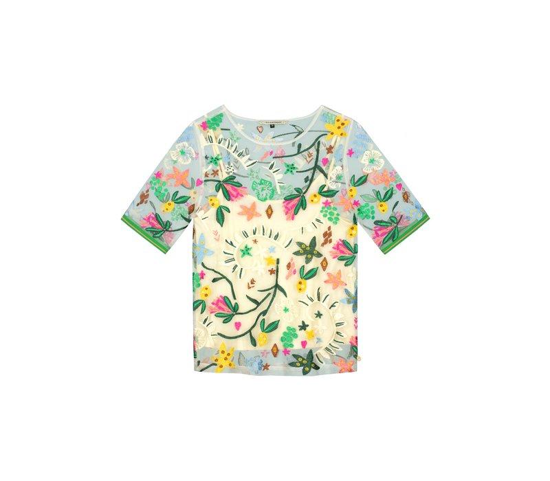 POM Amsterdam Top Jungle Beats Embroidery