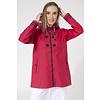 Batela Batela Raincoat Buttons & Striped Lining Red