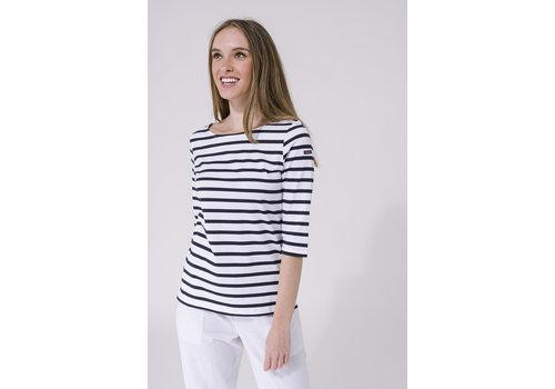 Batela Batela Navy Striped T-shirt White/Navy
