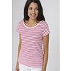 Batela Batela Nautical T-shirt with Shoulder Cords Blanc/Cerise