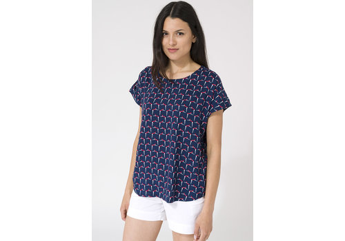 Batela Batela Blouse With Folded Sleeve Retro