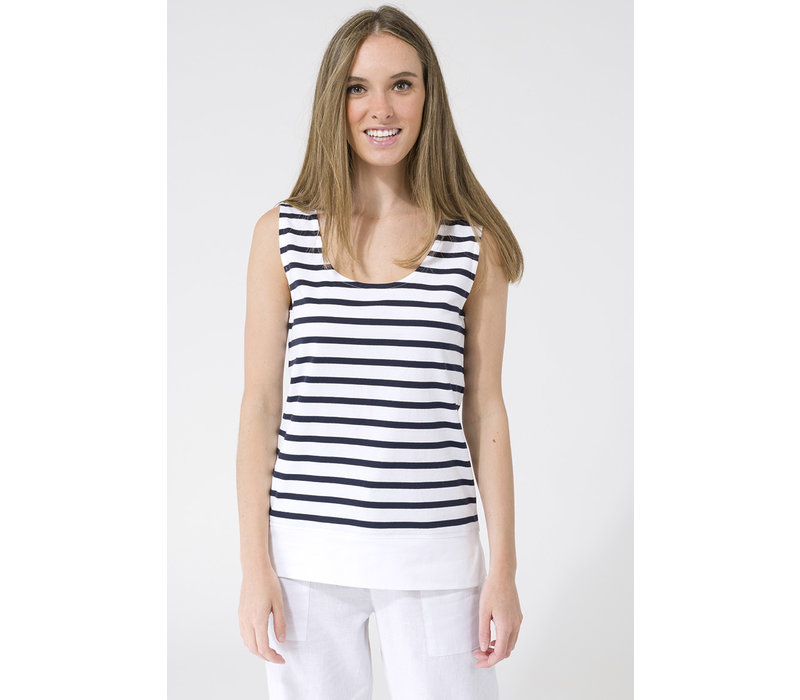 Batela Striped Shirt Without Sleeves