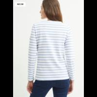 Saint James T-shirt Meridame II Neige/Denim