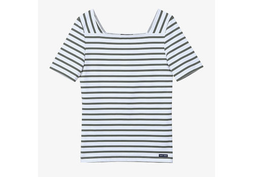 Saint James Saint James T-shirt Pleneuf II Neige/Algue
