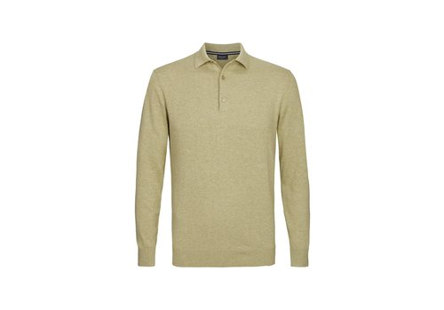 Profuomo Profuomo Knitted Polo Long Sleev Jannick Green