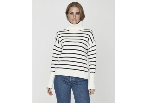 Holebrook Holebrook Dagny Rollneck Off White/Navy