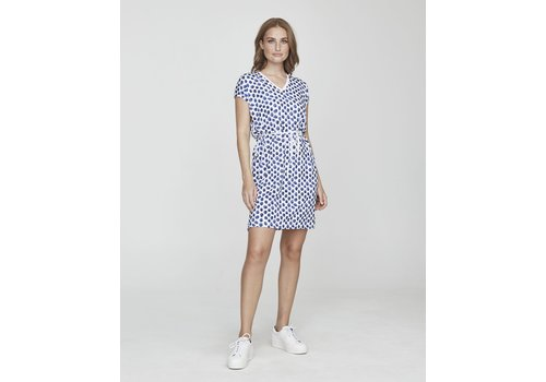 Holebrook Holebrook Kajsa Tee Dress White/Royal
