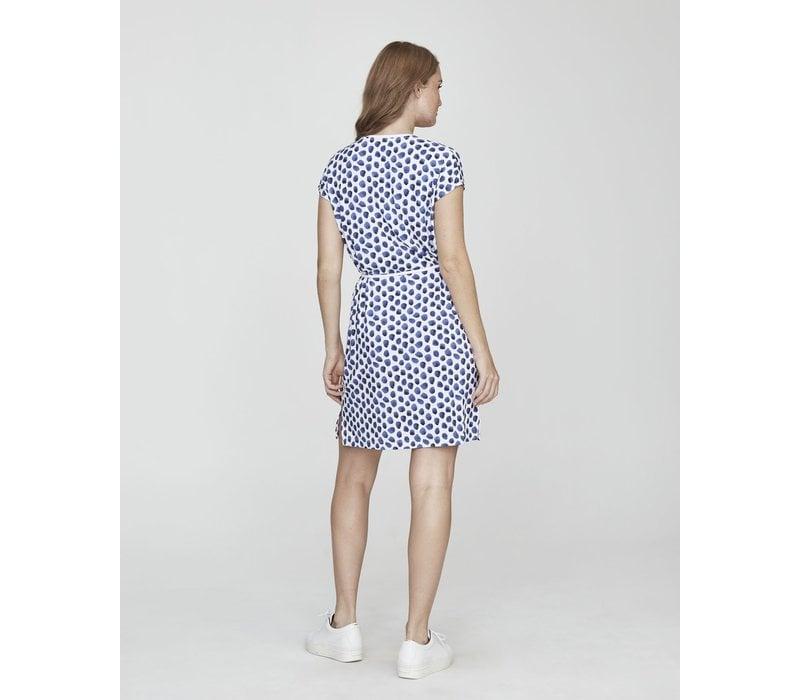 Holebrook Kajsa Tee Dress White/Royal