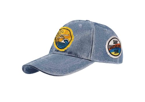 MC2 Saint Barth Mc2 Saint Barth Davis Baseball Patch Hat Denim Sunset Surf