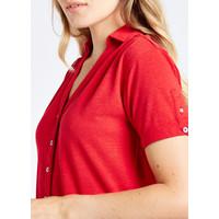 Dubarry Druid Shirt Dress Cardinal