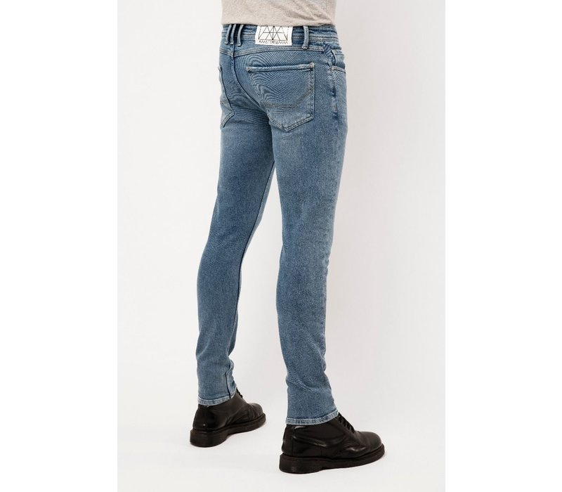 Amsterdenim Jeans Jan Slim Fit Wijs Blauw L34