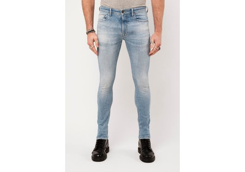 Amsterdenim Amsterdenim Jeans Jan Slim Fit  Helder Blauw L34