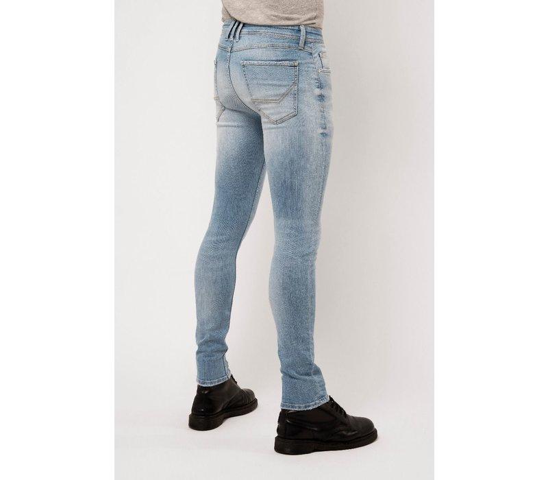 Amsterdenim Jeans Jan Slim Fit Helder Blauw L32