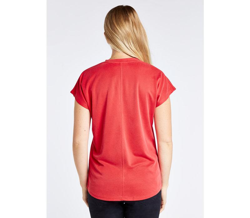 Dubarry Laragh T-shirt V-neck Cardinal