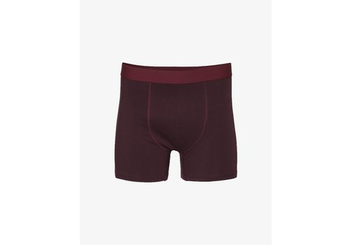 Colorful Standard Colorful Standard Classic Organic Boxer Briefs Oxblood Red