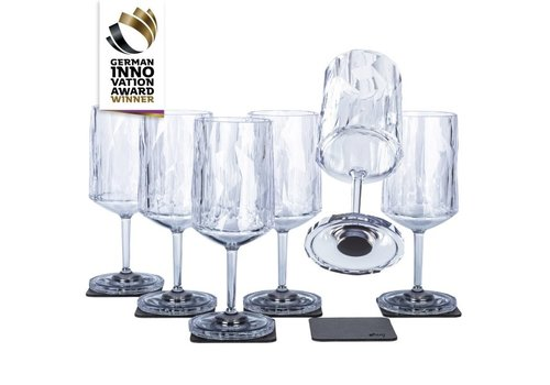 Silwy Silwy Magnetic Plastic Glasses Wine / Set of 6 / High-Tech / Clear