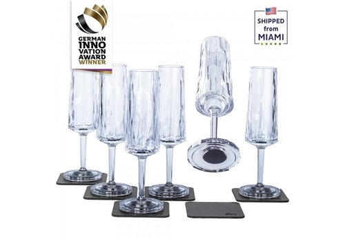 Silwy Silwy Hightech-Kunststof / Set of 6  / Champagne / Clear