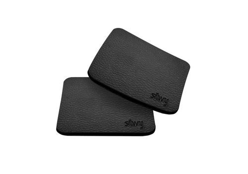 Silwy Silwy Metal-Nano-Gel-Pads with leather coating / Set of 2 / Square / Black
