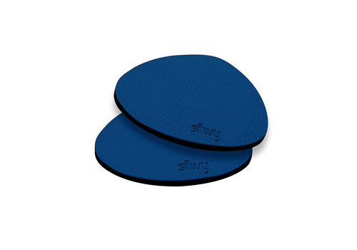 Silwy Silwy Metal-Nano-Gel-Pads with Leather Coating / Set of 2 / BLUE