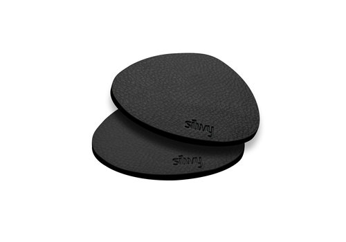 Silwy Silwy Metal-Nano-Gel-Pads with Leather Coating / Set of 2 / BLACK