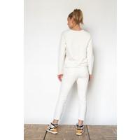 Penn & Ink Sweater F923 LTD Ice Cream/White