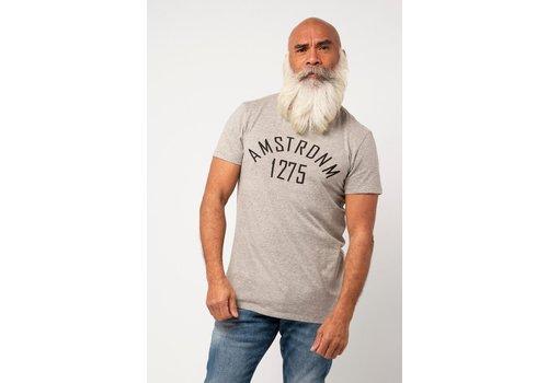 Amsterdenim Amsterdenim T-shirt Baas 1275 Print Grey Melange