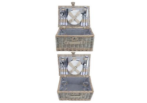 Cosy & Trendy Picknickmand 4 personen - bestek, borden, glazen, wijnglazen