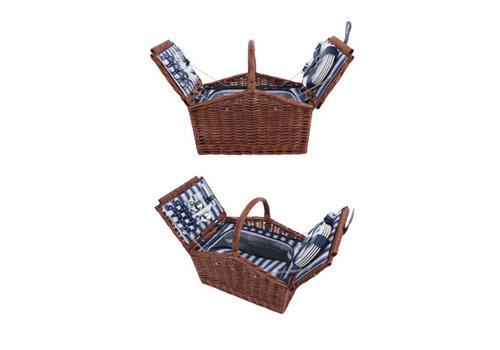 Cosy & Trendy Picknickmand 4 personen - bestek, borden, glazen, wijnopener