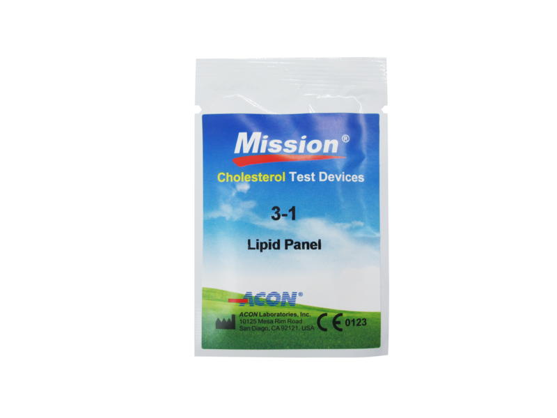 Mission Professionals 3-in-1 Cholesterol teststrips 25st