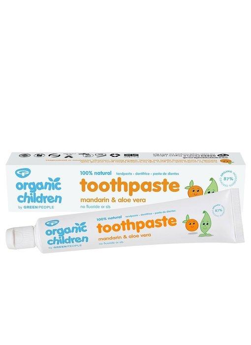 Green People Mandarijn & Aloe Vera tandpasta voor kinderen 50 ml
