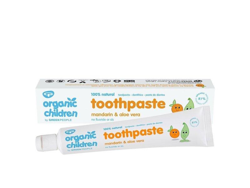 Green People Madarijn & Aloe Vera tandpasta voor kinderen 50 ml