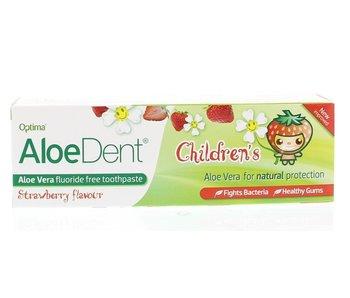 AloeDent Kindertandpasta aardbei 50 ml