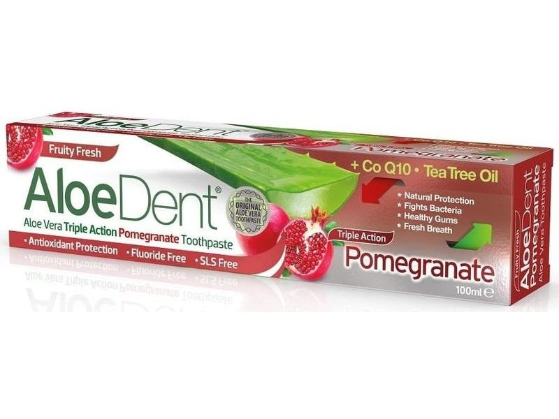 AloeDent Aloe Vera Triple Action Pomegranate Tandpasta 100 ml