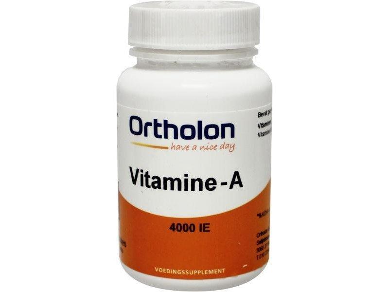 Ortholon Ortholon vitamine A 4000iE 60 caps vanaf € 11,00