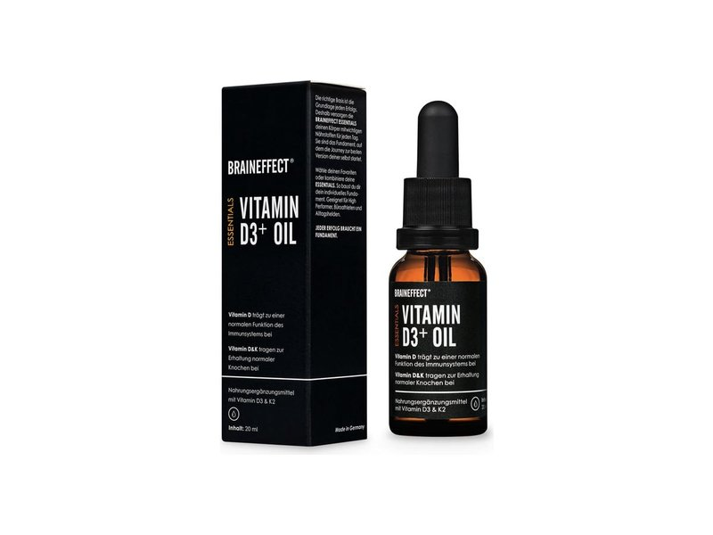 BrainEffect Vitamine D3+K2 olie 20ml