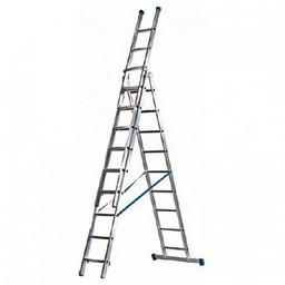 Maxall Driedelige Rechte Reformladder 3x9 (max. werkhoogte 8 meter)