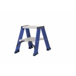 DAS Hercules dubbele trap 2x2 treden zonder beugel blauw gecoat