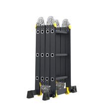 Vouwladder 4x4 met wieltjes en platform