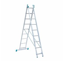 Eurostairs home reform ladder dubbel recht 2x9 sporten