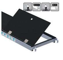 Rolsteiger platform met luik 190 cm carbon vloer (lichtgewicht)