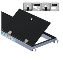 Rolsteiger platform met luik 250 cm carbon vloer (lichtgewicht)