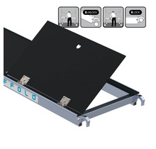 Rolsteiger platform met luik 305 cm carbon vloer (lichtgewicht)
