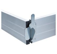 Kantplankset aluminium 190x135 cm