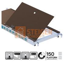 Kamersteiger platform 150 cm met luik