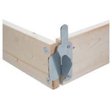 Kantplankset hout 150x75 cm