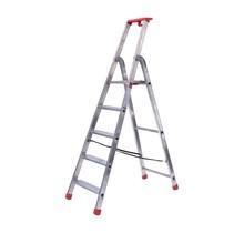 Semi-professionele trap enkel 1x5 treden inclusief platform