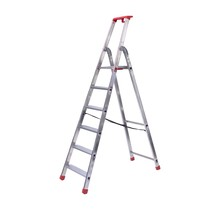 Semi-professionele trap enkel 1x6 treden inclusief platform