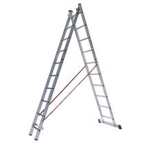 Ladder dubbel recht 2x12 sporten