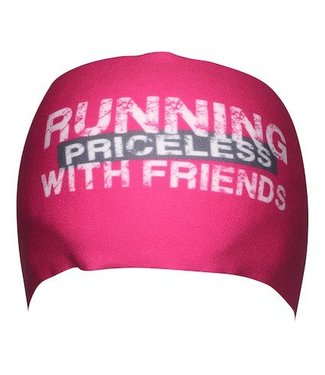 "BONDIBAND Haarband Pink ""Running with friends, priceless"""
